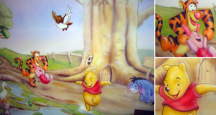 Winnie the Pooh Wall Mural Cartoon And Movie Gallery