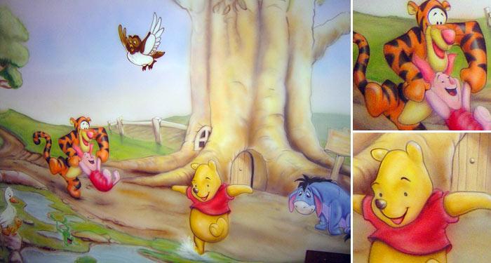 Kids Winnie The Pooh Mural. Part 81